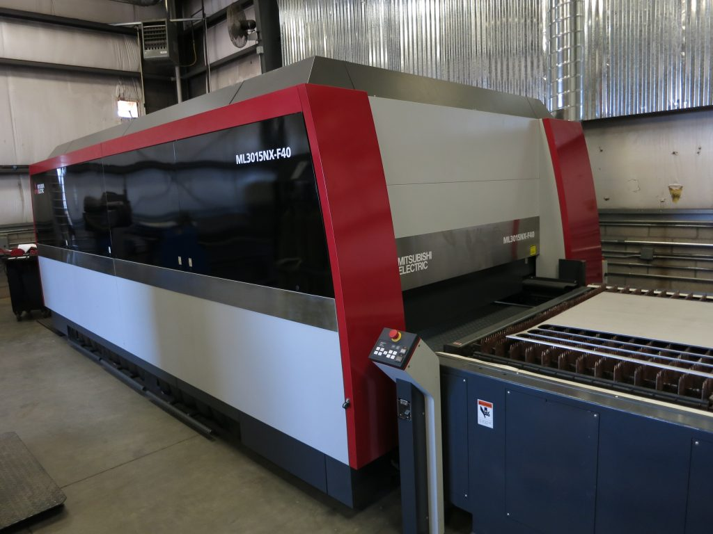 "MITSUBISHI MDL. ML3015NX-F40(S) 4kw FIBER LASER, 63"" Y-AXIS, 126"" X-AXIS, WITH NOZZLE CHANGER, AUTOMATIC PALLET CHANGER, LINEAR DRIVE 4.7"" Z-AXIS,..."